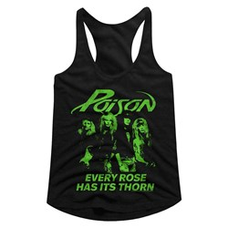 Poison - womens Erhit Racerback Tank Top