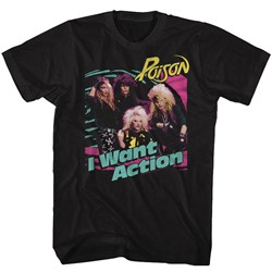 Poison - Mens Bright Action T-Shirt