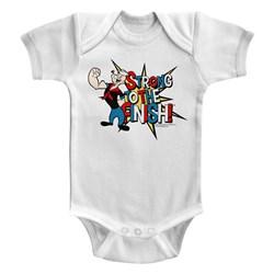 Popeye - unisex-baby Strong! Onesie