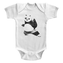 Kung Fu Panda - unisex-baby Strike A Pose Onesie