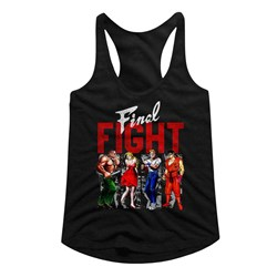 Final Fight - womens Panels Racerback Tank Top