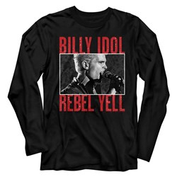 Billy Idol - Mens Rebel Yell Long Sleeve T-Shirt