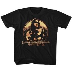 Conan - unisex-baby Shield T-Shirt