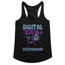 Digital Underground - womens Funky Purp Racerback Tank Top
