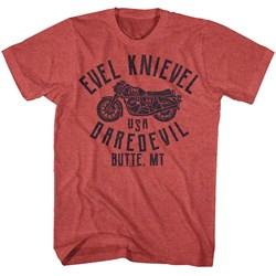 Evel Knievel - Mens Usa Dare Devil T-Shirt