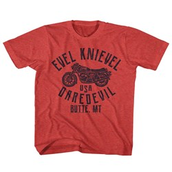 Evel Knievel - unisex-child Usa Dare Devil T-Shirt
