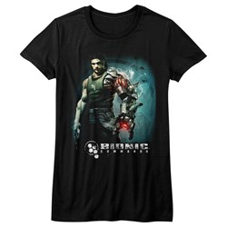 Bionic Commando - Womens Steam Arm T-Shirt