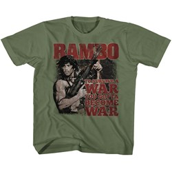 Rambo - unisex-child Become War T-Shirt