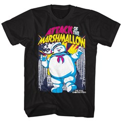Ghostbusters Mens Marshmallow Attacks T-Shirt