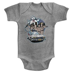 The Real Ghostbusters - unisex-baby Bustin' Buddies Onesie