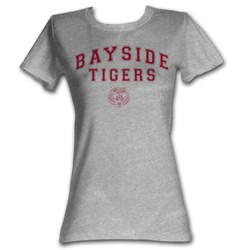 Saved By The Bell - Bayside Tigers Womens T-Shirt In Gray Heather
