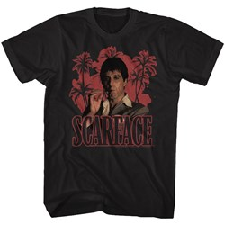 Scarface - Mens Red Palms T-Shirt