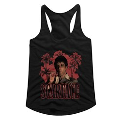 Scarface - womens Red Palms Racerback Tank Top