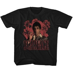Scarface - unisex-child Red Palms T-Shirt
