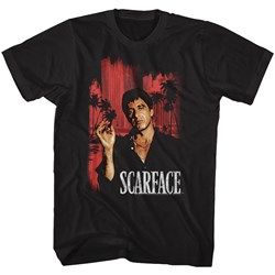 Scarface - Mens Red Cityscape T-Shirt
