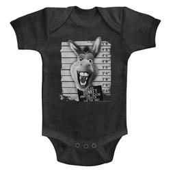 Shrek - unisex-baby Donkey Mugshot Onesie