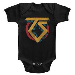 Twisted Sister - unisex-baby Vintage Ts Logo Onesie