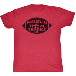 World Football League - Mens Jacksonville Football T-Shirt in Cherry Triblend