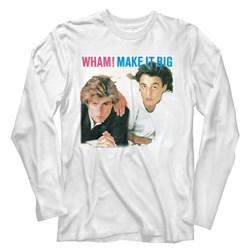 Wham - Mens Make It Big Long Sleeve T-Shirt