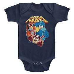 Mega Man - unisex-baby Flat Colors Onesie