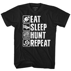 Monster Hunter - Mens Hunt Repeat T-Shirt