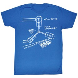 Back To The Future - Mens Flux Sketch T-Shirt