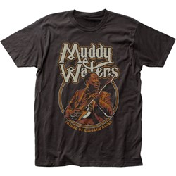 Muddy Waters Mens Father Of Chicago Blues Fitted Jersey T-Shirt