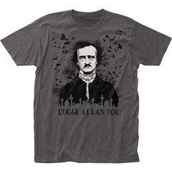 Edgar Allane Poe Mensedgar Allan Poe Raven Fitted Jersey T-Shirt