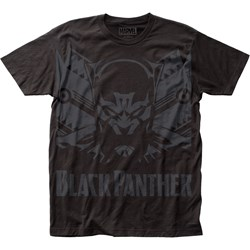 Black Panther Mens Shadow Big Print Subway T-Shirt