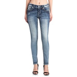 Miss Me - Womens Hailey Skinny Jeans In Wash: K913