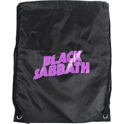 Black Sabbath - Unisex Purple Logo Drawstring Bag