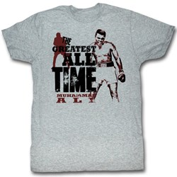 Muhammad Ali - The Greatest Mens T-Shirt In Gray Heather