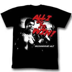 Muhammad Ali - Mens Look At Him Go T-Shirt in Black