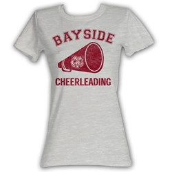 Saved By The Bell - Cheerleading Womens T-Shirt In Gray Heather