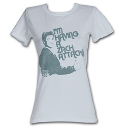Saved By The Bell - Zach Attack Womens T-Shirt In Silver