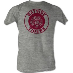 Saved By The Bell - Vintage Tigers Mens T-Shirt In Gray Heather