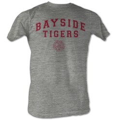 Saved By The Bell - Bayside Tigers Mens T-Shirt In Gray Heather