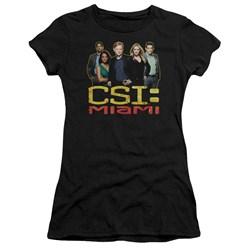 Csi Miami - Juniors The Cast In Black Premium Bella T-Shirt
