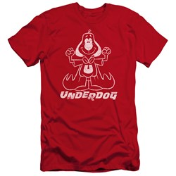 Underdog - Mens Outline Under Premium Slim Fit T-Shirt