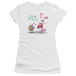 Here Comes Peter Cottontail - Juniors Hop Around Premium Bella T-Shirt
