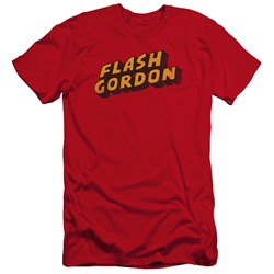 Flash Gordon - Mens Logo Premium Slim Fit T-Shirt
