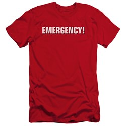 Emergency - Mens Logo Premium Slim Fit T-Shirt