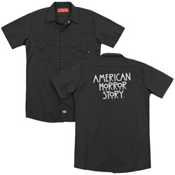 American Horror Story - Mens Ahs Logo (Back Print) Work Shirt