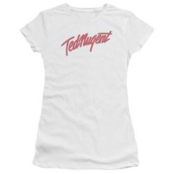 Ted Nugent - Juniors Clean Logo Premium Bella T-Shirt