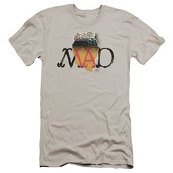 Mad - Mens Torn Logo Premium Slim Fit T-Shirt
