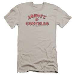 Abbott & Costello - Mens Logo Premium Slim Fit T-Shirt