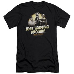 Abbott & Costello - Mens Horsing Around Premium Slim Fit T-Shirt