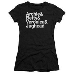 Archie Comics - Juniors Ampersand List Premium Bella T-Shirt