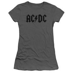 Acdc - Juniors Worn Logo T-Shirt