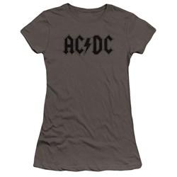 Acdc - Juniors Worn Logo Premium Bella T-Shirt
